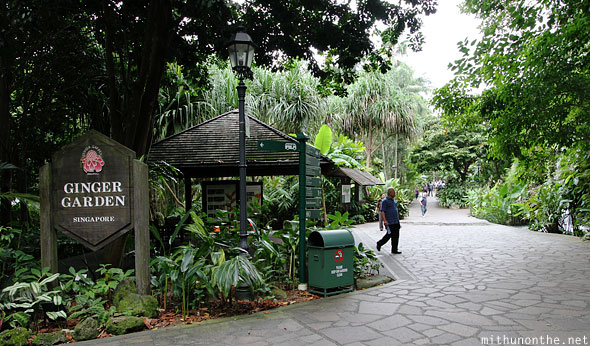 Vườn bách thảo Singapore ginger garden